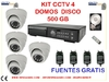 Kit 520 lineas 4 domos interiores, grabadora 500 GB