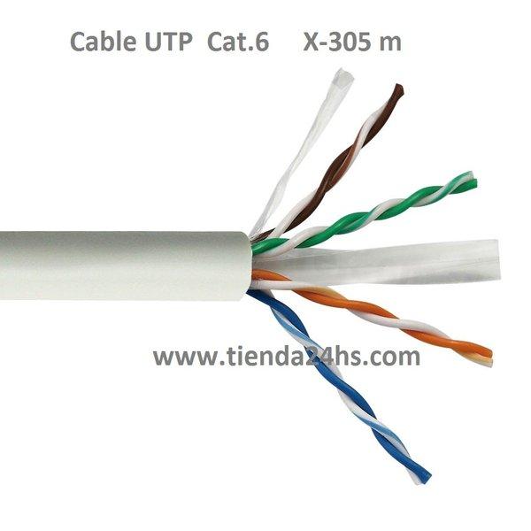 Cable utp categoria 6 4x2x1 0 50 cca for Cable de red categoria 6