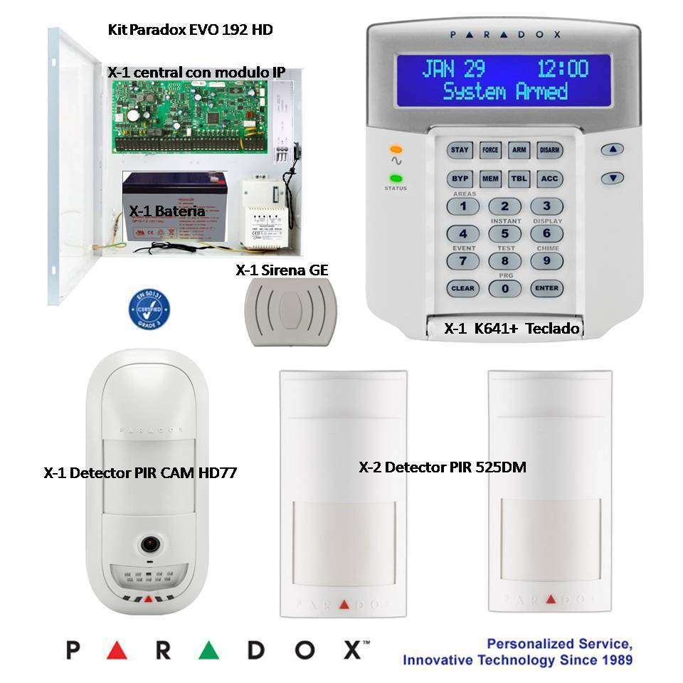 Paradox Security Kit With Hd 1 3 Mp Camera Detector Module Ip