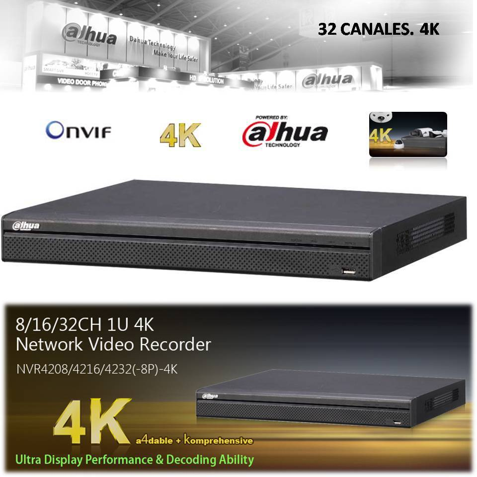 NVR IP Recorder 4K Dahua 32 channels