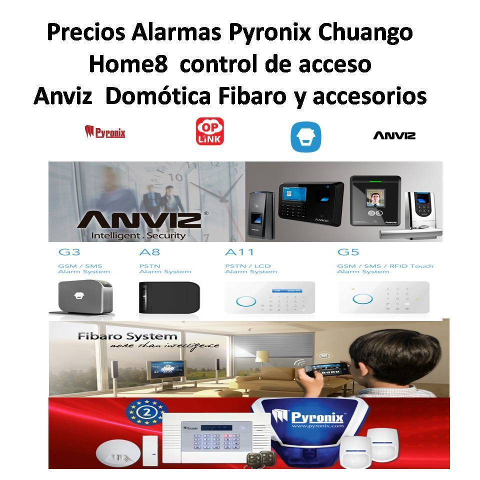 prix des alarmes pyronix chuango anviz fibaro home8 et accessoire. Black Bedroom Furniture Sets. Home Design Ideas