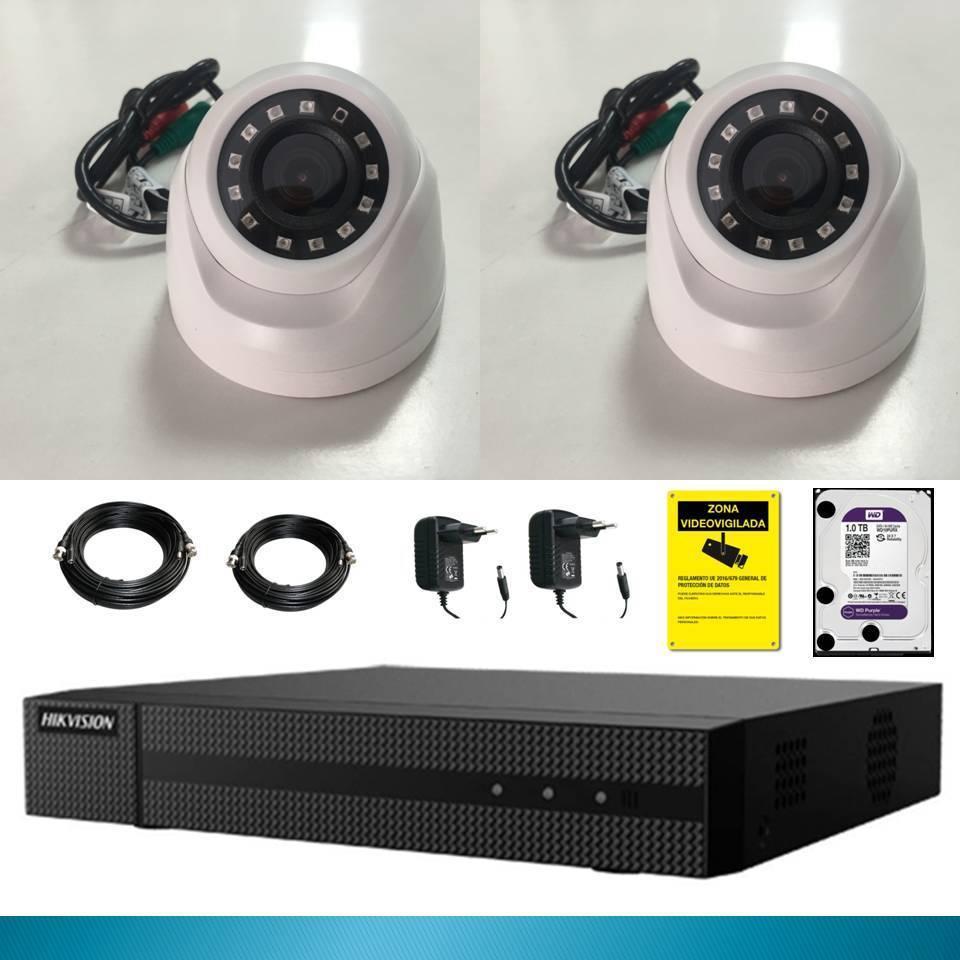 Kit cctv 2 cameras 2 mp disk 1 tb Recorder XVR Full HD