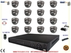 16 Dome cameras and VCR Kit