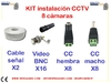Kit materials for installation of 8 CCTV