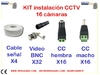 Kit materials for installation of 16 CCTV