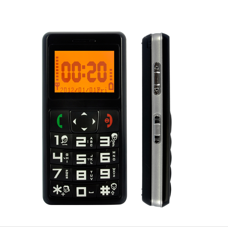 Telephone portable simple pour personne agee