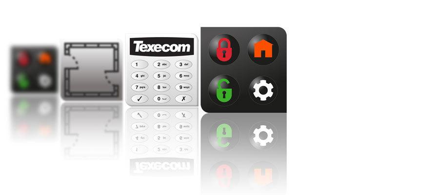 Kits Alarma Cableada 2 Detector Teclado Led Grado 2 Texecom 12 Z