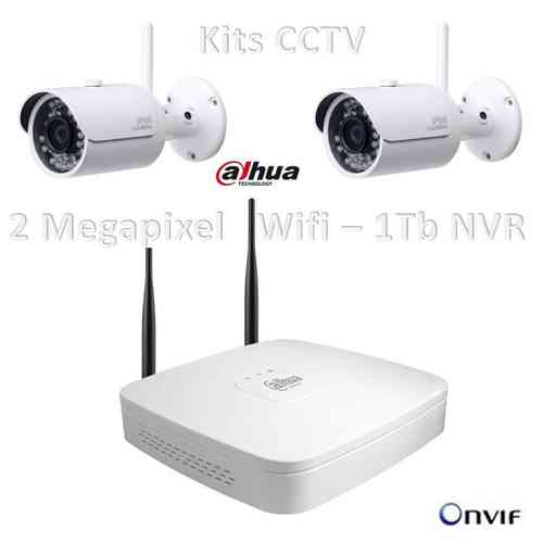 Kit WIFI IP NVR 2 megapixel, disco da 1TB