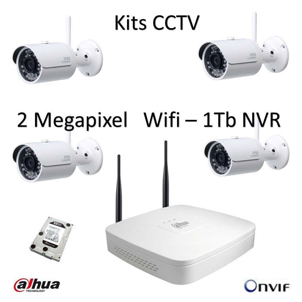 Two Wireless Security Camera Kits - WIRE Center •