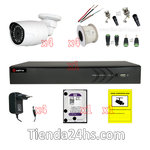 CCTV Kit 4 Cameras  recorder  disc cables and power supplies