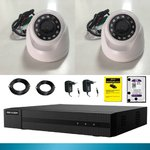 Kit cctv 2 cameras 2 mp disk 1 tb Recorder XVR Full HD