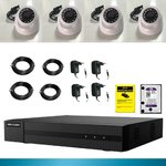 Kit cctv 4 cameras 2 mp disk 1 tb Recorder XVR Full HD